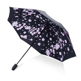 Dámsky skladací dáždnik Jarné ružové kvety