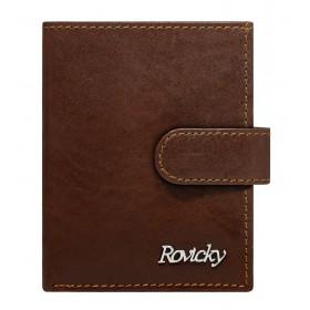 Rovicky kožená peňaženka na doklady RFID Hnedá