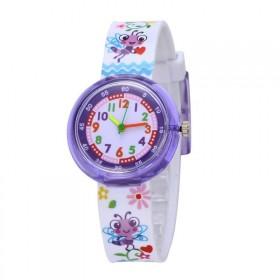 Divčenské silikónové hodinky Chrobáčik