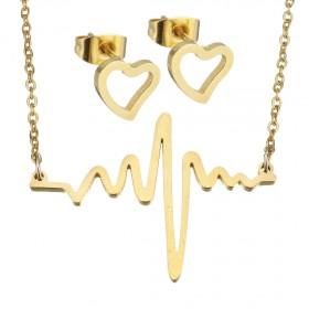 Súprava šperkov z chirurgickej ocele Heart Rate