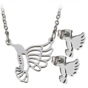 Súprava šperkov z chirurgickej ocele Kolibrík