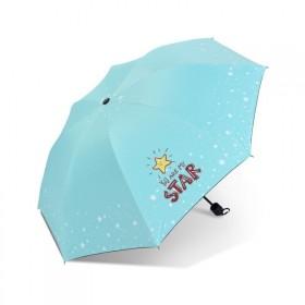 Dievčenský skladací dáždnik STAR tyrkysový