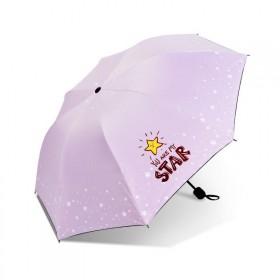 Dievčenský skladací dáždnik STAR ružový