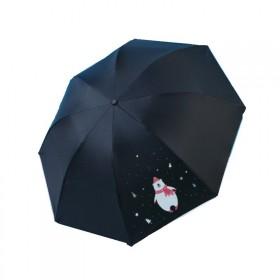 Dievčenský skladací dáždnik Čierny medveď