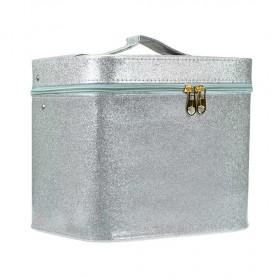 BMD kozmetický kufrík Sparkling strieborný