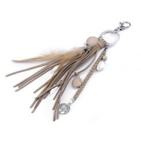 Prívesok na kabelku aj kľúče strom života a pierko