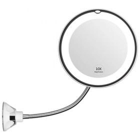Kozmetické zväčšovacie LED zrkadlo s prísavkami