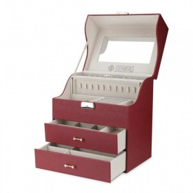 Stenberg elegantný kufrík na šperky ETUI Bordó