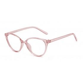 Okuliare blokujúce modré svetlo Cat Girl Transparentné Ružové