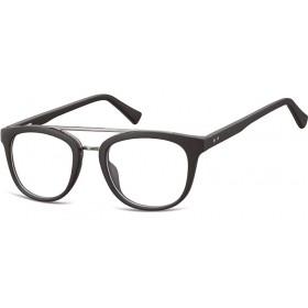 Oválny okuliare bez dioptrii Reverend - čierne