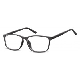 Obdĺžnikové okuliare bez dioptrii Stiff- čierne