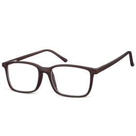 Obdĺžnikové okuliare bez dioptrii Prudent - čierne