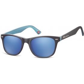Montana slnečné okuliare Wayfarer modré zrkadlové MS10C