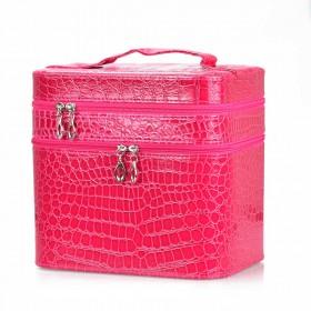 BMD kozmetický kufrík 3 vrstvový Ružový krokodíl
