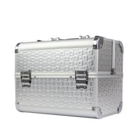 BMD kozmetický kufrík Denimio Strieborný