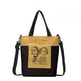 Dámska plátená kabelka Fashion Nerds Horčicová