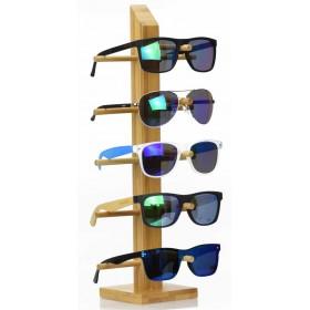 Drevený stojan na slnečné okuliare Bambus