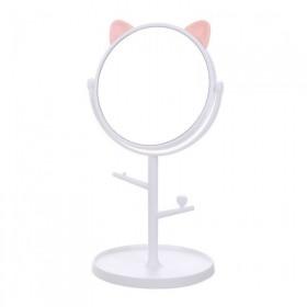 Stolné dievčenské kozmetické Zrkadlo Mačiatko Biele