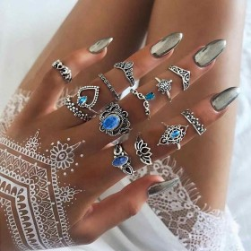 Sada Bohém prsteňov 13ks Luvinia