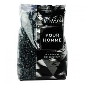 Italwax tvrdý depilačný vosk Pour Homme black 1KG