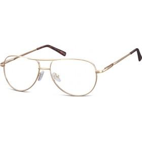 Nedioptrické okuliare Retro Aviator číré- Zlaté