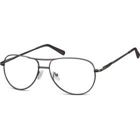 Nedioptrické okuliare Retro Aviator číré- Čierne