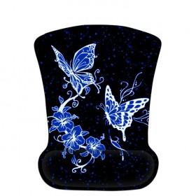 Huado ergonomická podložka pod myš Modrý motýle