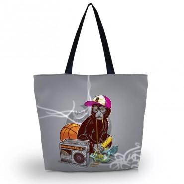 Huado nákupná a plážová taška - Opice na ťahu
