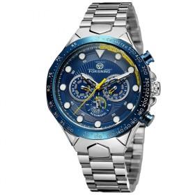 FORSINING pánske automatické hodinky Manful M4T7 Modré