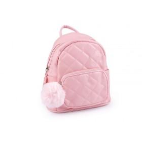 Dievčenské batoh s brmbolcom Ružový