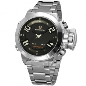 FORSINING pánske duálny LED hodinky Monster Q4S2