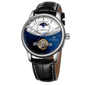 FORSINING pánske automatické hodinky Moonlight 9M3S3 Modré