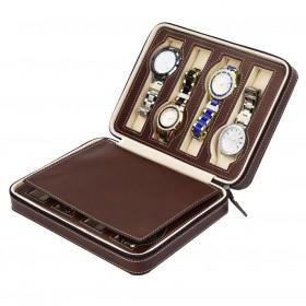 Úložný box na hodinky 8 komôr Hnedý