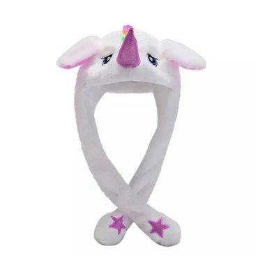 Plyšová LED čiapka Funky Animal Jednorožec