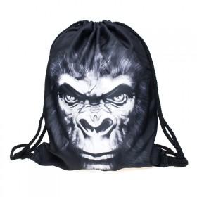 Plátený vak s 3D potlačou Gorila