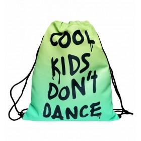 Plátený vak s 3D potlačou Cool Kids Don't Dance