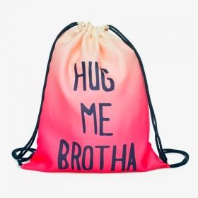Plátený vak s 3D potlačou Hug Me Brother