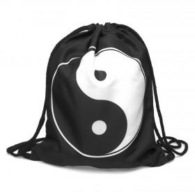 Plátený vak s 3D potlačou Yin Yang