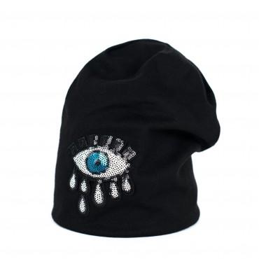 Dámska pletená čiapka Crying eye