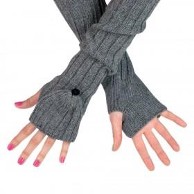 ArtOfPolo dlhé rukavice bez prstov flip-flop Šedé