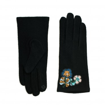 ArtOfPolo dámska rukavice Frosty garden Čierne