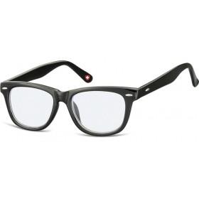 Detské okuliare blokujúce modré svetlo Wayfarer Čierne