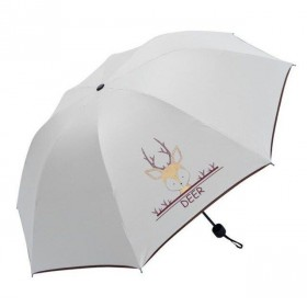 Dievčenský skladací dáždnik Biely Jeleň