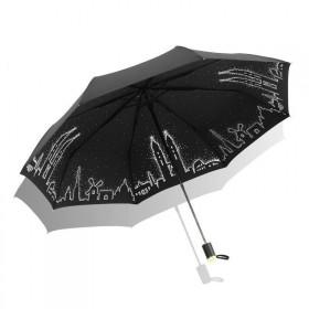 Dámsky skladací dáždnik Čierne mesto