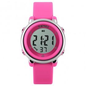SKMEI 1100 dievčenské digitálne hodinky Ružové