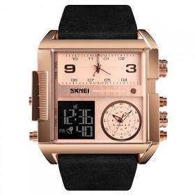 SKMEI 1391 duálny hodinky 3 times Rose gold Čierne