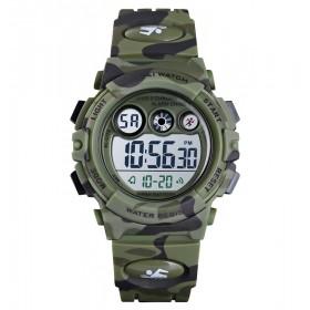 SKMEI 1547 Chlapčenské športové hodinky Army Zelené