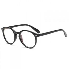 Nedioptrické okuliare Oval Cute Čierne