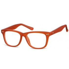 Detské okuliare bez dioptrii Wayfarer - oranžové