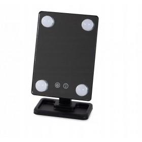 Kozmetické LED zrkadlo so žiarovkami Čierne